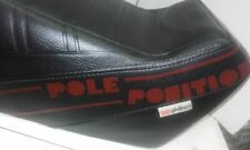 Vespa T5 Mk1 YANKEE POLE POSITION SEAT IN Black with Red writing