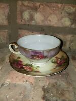 Ucagco China Floral Cup And Saucer maded in Japan
