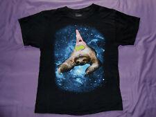 Patrick Spongebob sloth black t-shirt size M medium space