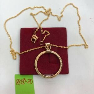 GoldNMore: 18K Gold 18 Inches Necklace With Pendant TOZG