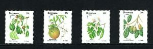 1994 Botswana Christmas edible fruits ,plants set of 4 UM