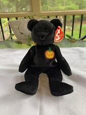 "Ty Beanie Babies Haunt the Bear 8"" Plush Stuffed Toy~Retired ~Halloween pumpkin"