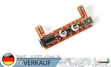 mini Breadboard Adapter MB102 mit Spannungsregler 3,3/5V f Arduino Raspberry Pi