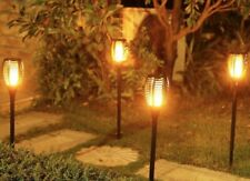New listing 4 Pack Solar Lights Outdoor 3 In 1 Flickering Flames Usable As Torch Or Lanterns