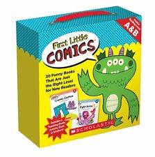 First Little Comic Books Levels A & B 20 bks +parent guide,motivational stickers