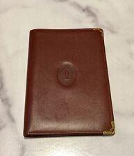 Cartier Paris Burgundy Leather Bifold Organizer Wallet