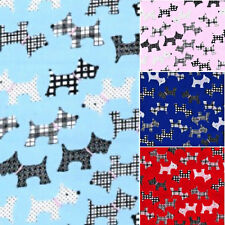 Polyester Cotton Fabric - Scottie Dogs Material