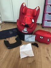 Cybex Sirona Red platinum Rotating 360 Car Seat. Isofix