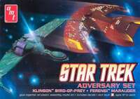 AMT Star Trek Adversary Set Klingon Bird of Prey & Ferengi Marauder model 1/1000