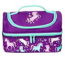 "LATEST! SMIGGLE Girl's Double Decks Lunch Box Lunchbox ""Spark"", Unicorn"