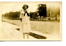 Young Lady-Sailor Dress-Leighton-Pennsylvania-RPPC-Vintage Real Photo Postcard