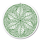 Fenster Glas Bild Nr. 54. Mandala 6. grün Ø 10cm Licht Fänger keltisches Symbol