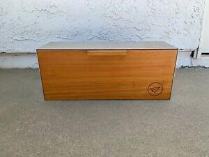 Custom Vintage Midcentury Modern Mailbox Wood + steel wall-mount, minimalism