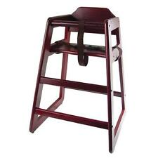 Winco CHH-103 Stacking High Chair - Mahogony Finish