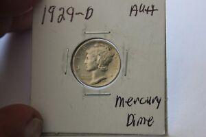 1929-D     AU++     MERCURY DIME