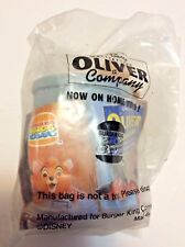 1996 Burger King Kids Club Meal Oliver & Company Trash Can Viewmaster Toy