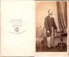 Regnier, Homme au beau noeud papillon Vintage CDV albumen carte de visite  CDV