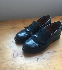whistles size 6/39 navy blue leather loafers with chunky sole