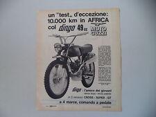 advertising Pubblicità 1967 MOTO GUZZI DINGO 50 49