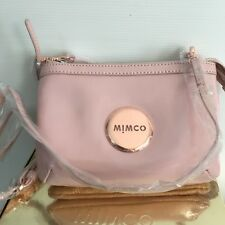 Mimco Leather SECRET Couch Hip Across body Pink Rosegold NO DEFECT BNWT