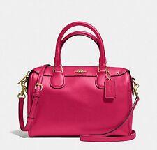 NEW Coach F57521 Mini Bennett Satchel Handbag Purse Shoulder Bag BRIGHT PINK