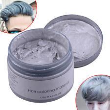 120g Silver Grey Hair Wax Men Women Professional Pomade Mud Gel Cream Temporary: