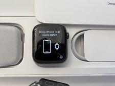 Apple Watch Series 6 44mm Graphite Stainless Steel Black Dark Blue Sport Band