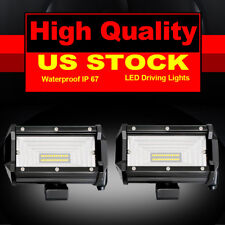 "2x 5"" Inch 144W Flood LED Work Light Bar Offroad ATV Roof Fog Lamp Truck 4WD 12V"
