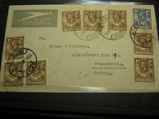 Northern Rhodesia 1936 cover to Germany George V Lugpos envelope