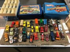 Vintage Collectible Hot Wheels Matchbox Collectors Case with 37 Assorted Cars