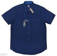*NEW* J.Crew Men's Medium Short-Sleeve Secret Wash Shirt in Indigo Gingham