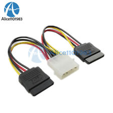 10PCS 4 Pin IDE Molex to 2 Serial ATA SATA Hard Drive Power Adapter Cable wire