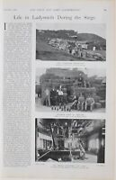 1900 PRINT LADYSMITH DURING THE SIEGE LIVERPOOL REGIMENT SHELTER BBOER SHELL