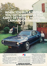 1972 AMC Javelin - driveway view - yellow Classic Vintage Advertisement M3113H86