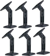 6 PACK UNIVERSAL CEILING WALL SATELLITE SPEAKER MOUNT BRACKETS HOME THEATER