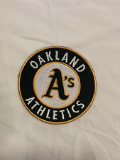 Oakland A's Logo MLB Baseball Hat Jersey Iron On Embroidered Sleeve Patch