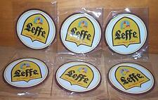 LEFFE BELGIAN ALE 6 BEER BAR MAT TOP SPILL COASTERS NEW