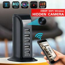 1080P WIFI Socket Charger Spy Hidden Camera Video Recorder 5 USB Nanny Cam DVR