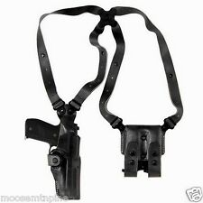 Galco Vertical Shoulder Holster, Ambi Black for Glocks 9/40's VHS224B