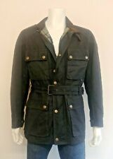 Belstaff Gold Road master wax cotton jacket with belt Made in Italy Size Large