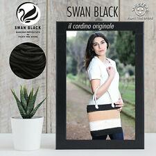 CORDINO CORDONCINO THAI SWAN BLACK® 500 gr. X BORSE 30 COL FERRI UNCINETTO 3,5/4