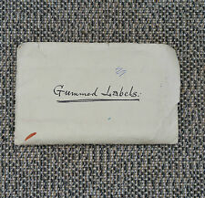 Ancien document Gummed labels french antique