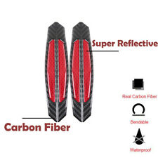 4Pcs Red Real carbon Fiber Car Side Door Edge Protection Guards Trims Stickers