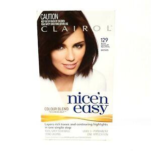 Clairol Nice Easy Colour Blend Permanent Hair Dye Brown 129 Rich Medium Neutral