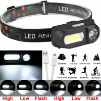 6 Mode LED COB USB Rechargeable Headlamp Headlight Head Torch Flashlight Bs