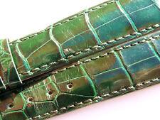 ZENITH CROCO BAND STRAP GREEN 20 MM 78/114 NEW NUEVA Z 20-18