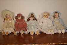 """Porcelain doll collection from the 80's. Great condition. Approximately 18"""""""