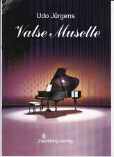 Udo Jürgens : Valse Musette, für Klavier, Klavierpartitur