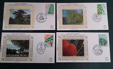 1990- Set of 150th Ann of Royal Botanic Gardens at Kew on Benham Silk Covers