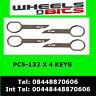 PC5-132 Audi A2, A3, A4, A6, A8, TT Horizontal Radio Removal Extraction Keys x4